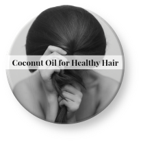 use coconut oil to heal split ends