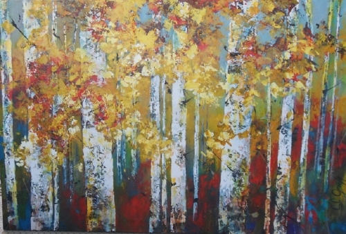 Fire and Gold 40x60