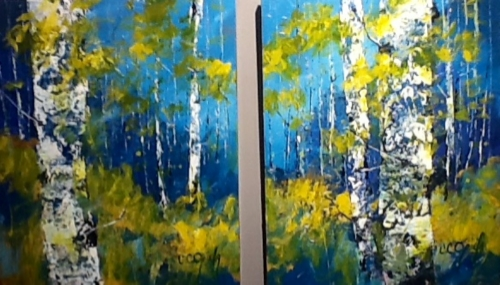 Blue Dawn 20x16 Ea, 20x32 Diptych