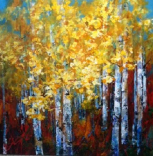 Golden Lights 36x36