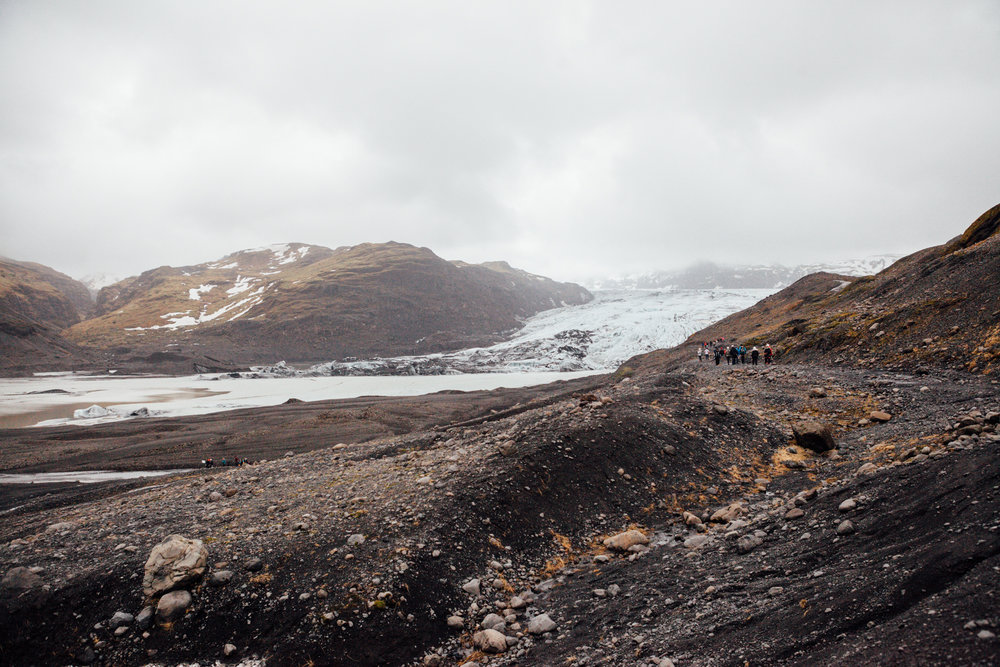 A quick stop to check out the Solheimajokull Glacier just outside of Vik. This glacier is also receding at an alarming rate due to climate change.