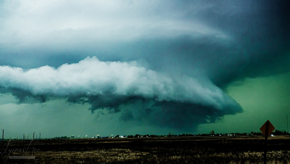 a large supercell structure in Nebraska
