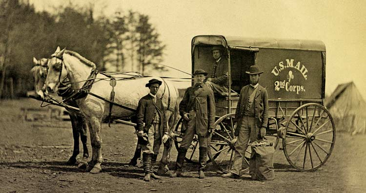 Mail Wagon of 2nd Army Corps at Brandy Station, 1864.