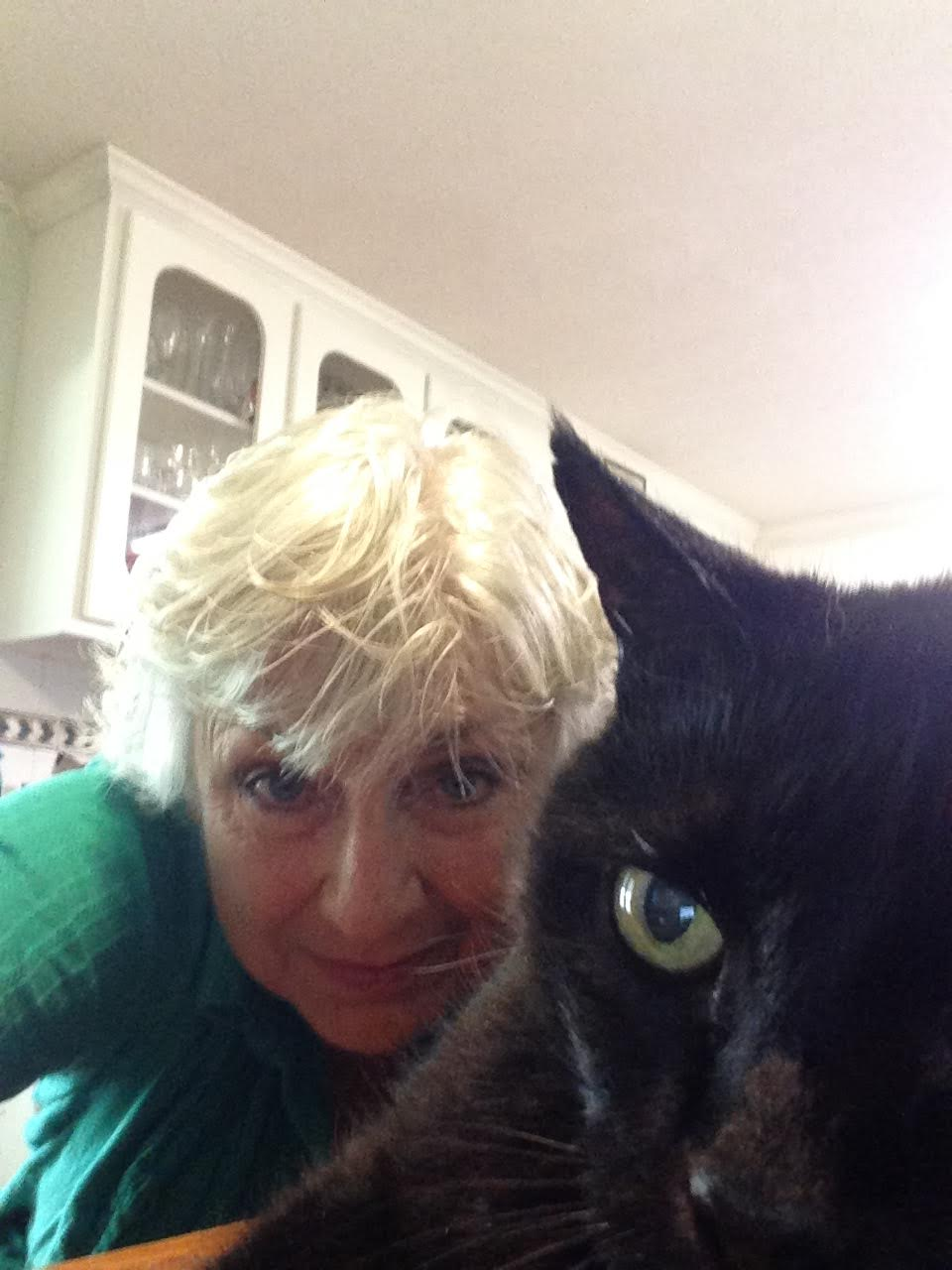 Carolyn Haines and the black cat