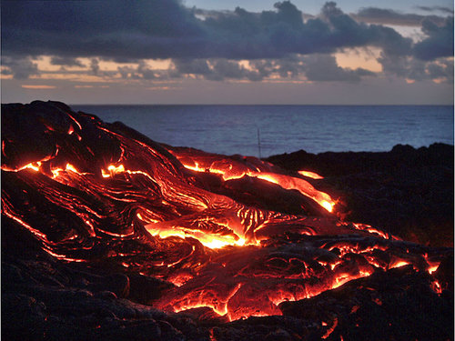 Volcano National Park and the Kalapana Lava Flow