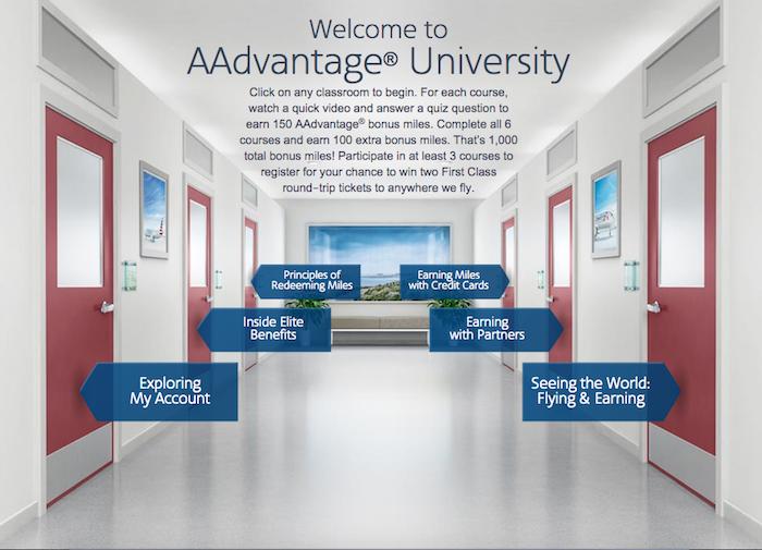 Earn 1,000 by enrolling in AAdvantage University