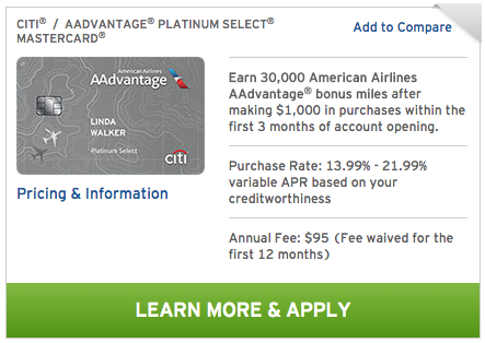 Citi/AAdvantage Platinum signup bonus reduced to 30,000 miles