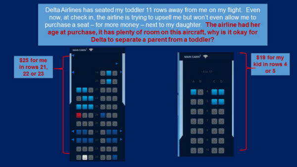 Flight seat availability as posted by Frank Strong on Sword and the Script blog (click to enlarge)