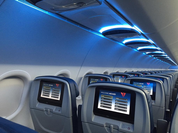 Delta's A319 aircraft will soon feature refreshed interiors  (Photo credit: Atlanta Business Chronicle)