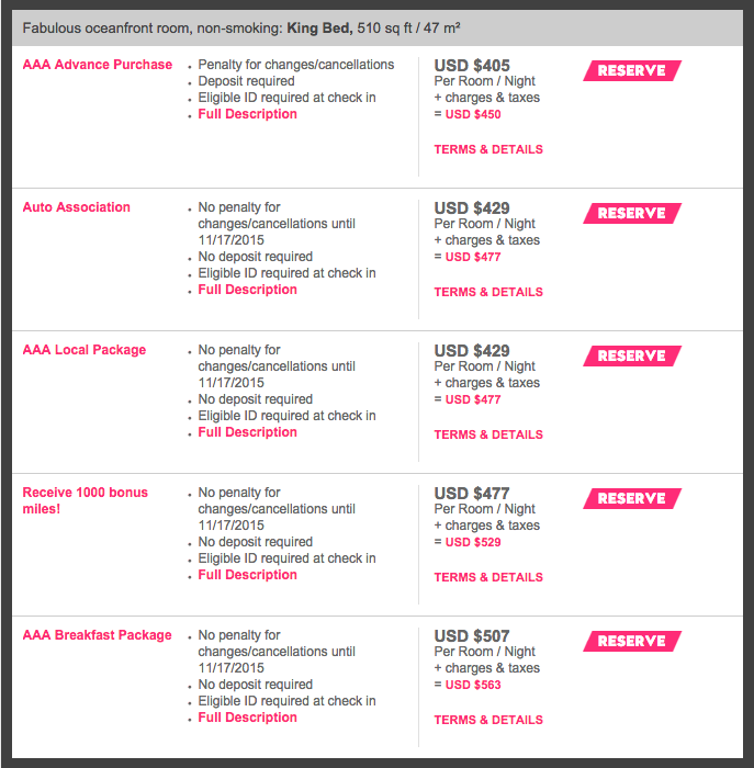 The AAdvantage promo rate is significantly higher than the AAA rate for only 1000 bonus miles!