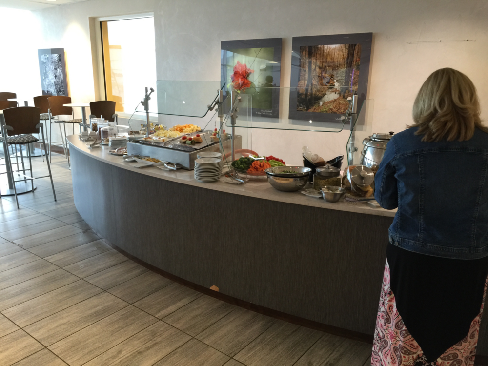 The buffet offered a variety of options (click to enlarge)