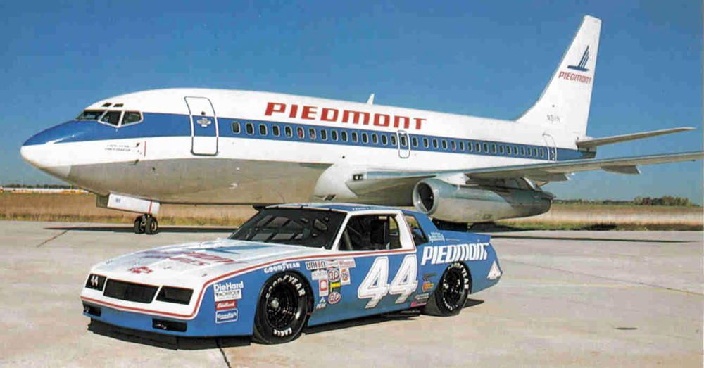 Piedmont Airlines, based in North Carolina, sponsored a race team before NASCAR became a mainstream sport
