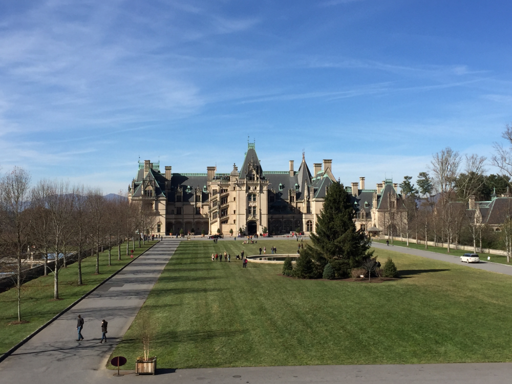 Biltmore House is America's largest home and was built in the late nineteenth century.  (click to enlarge)