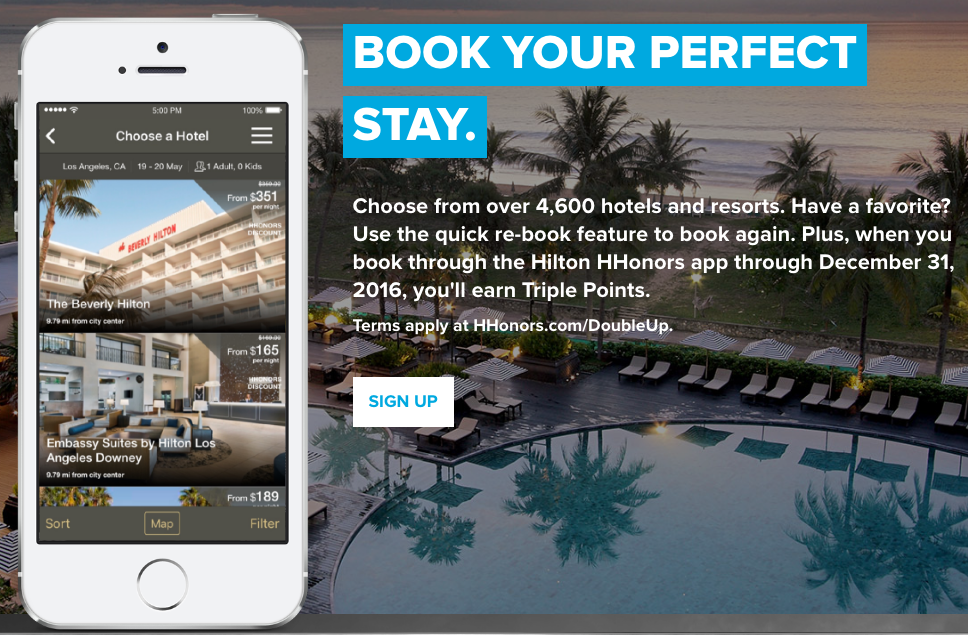 You can earn triple Hilton HHonors points when you book via the Hilton app...but should you?