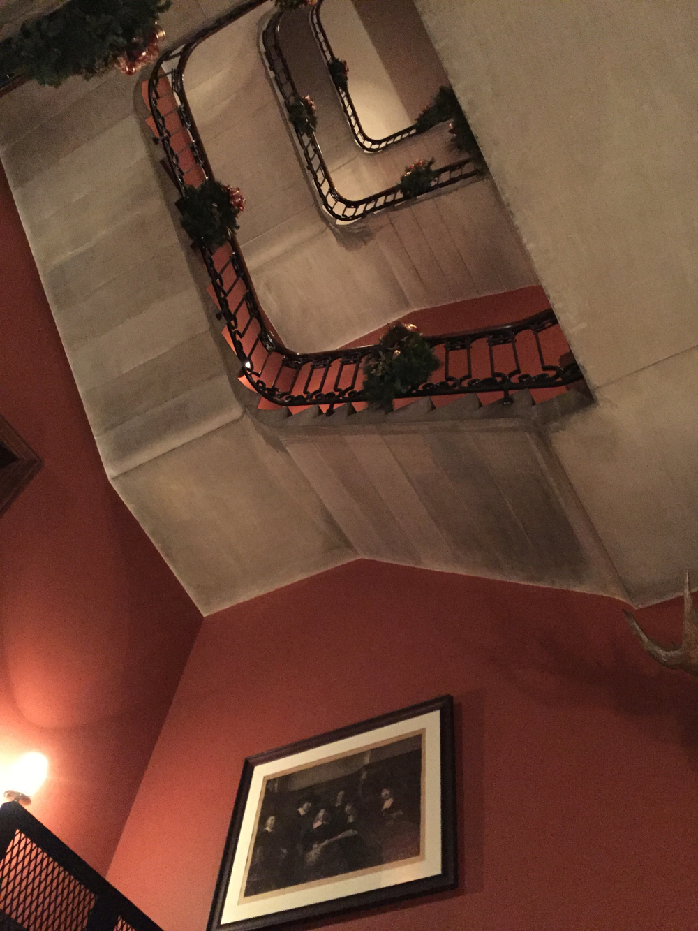 A very unique perspective on the staircase.