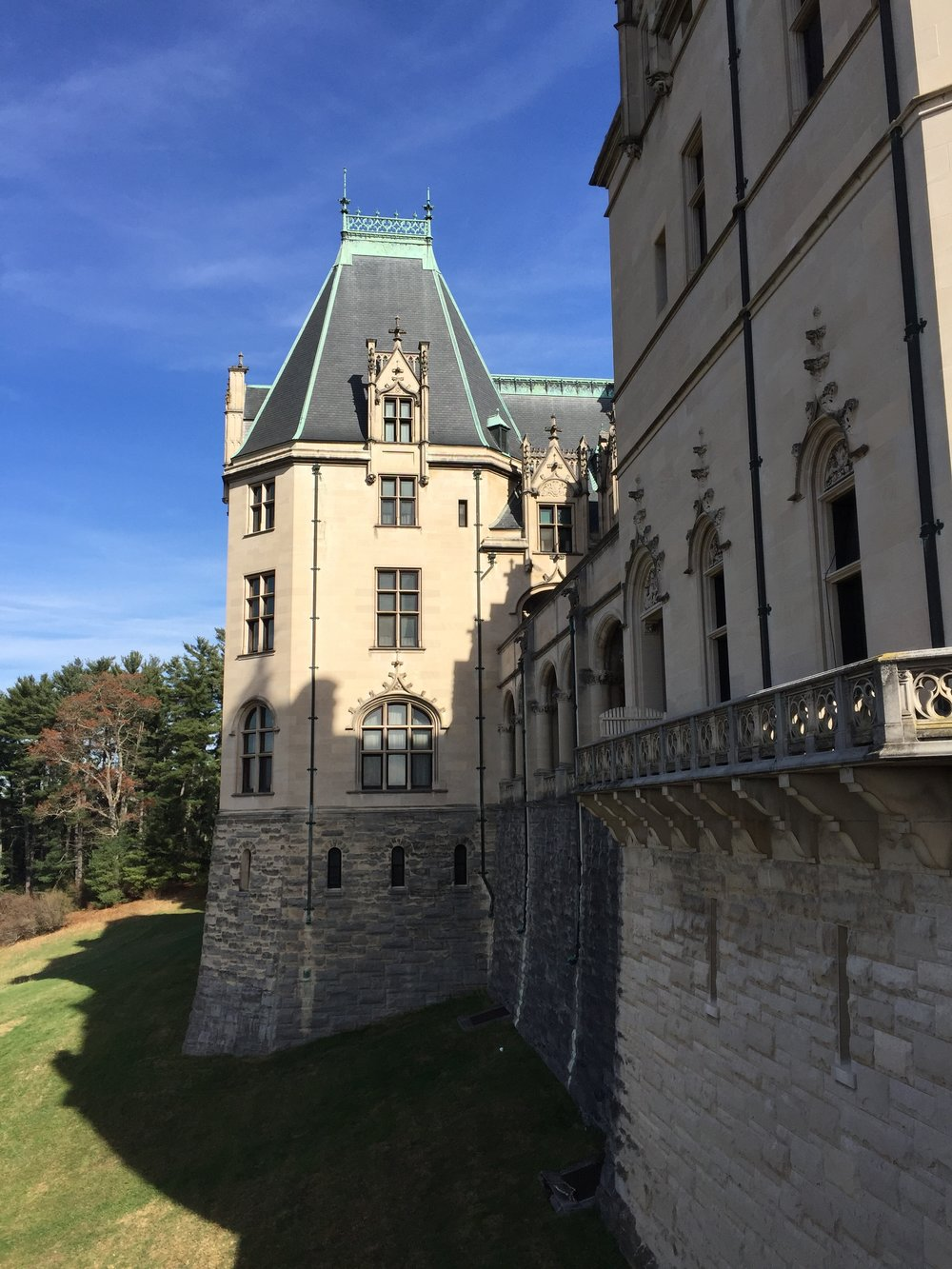 View of Biltmore House from the adjacent terrace.