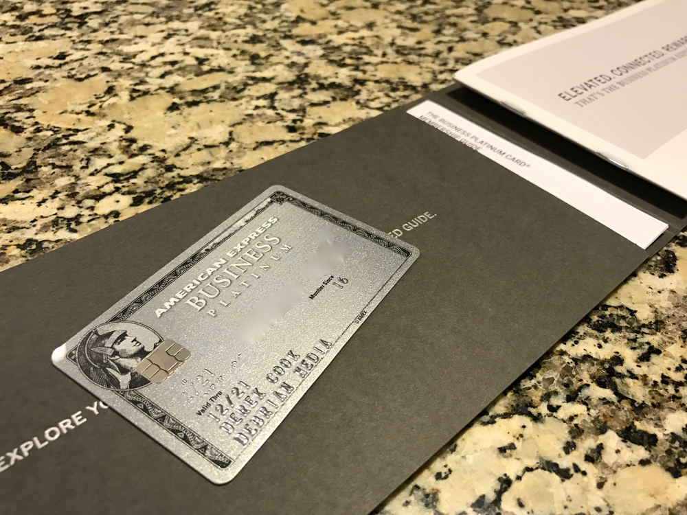The Enhanced Business Platinum Card from American Express OPEN. (click to enlarge)