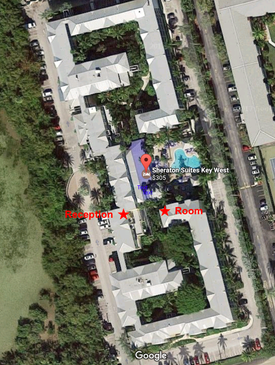 Sheraton Suites Key West property overview (via Google Maps) (click to enlarge)