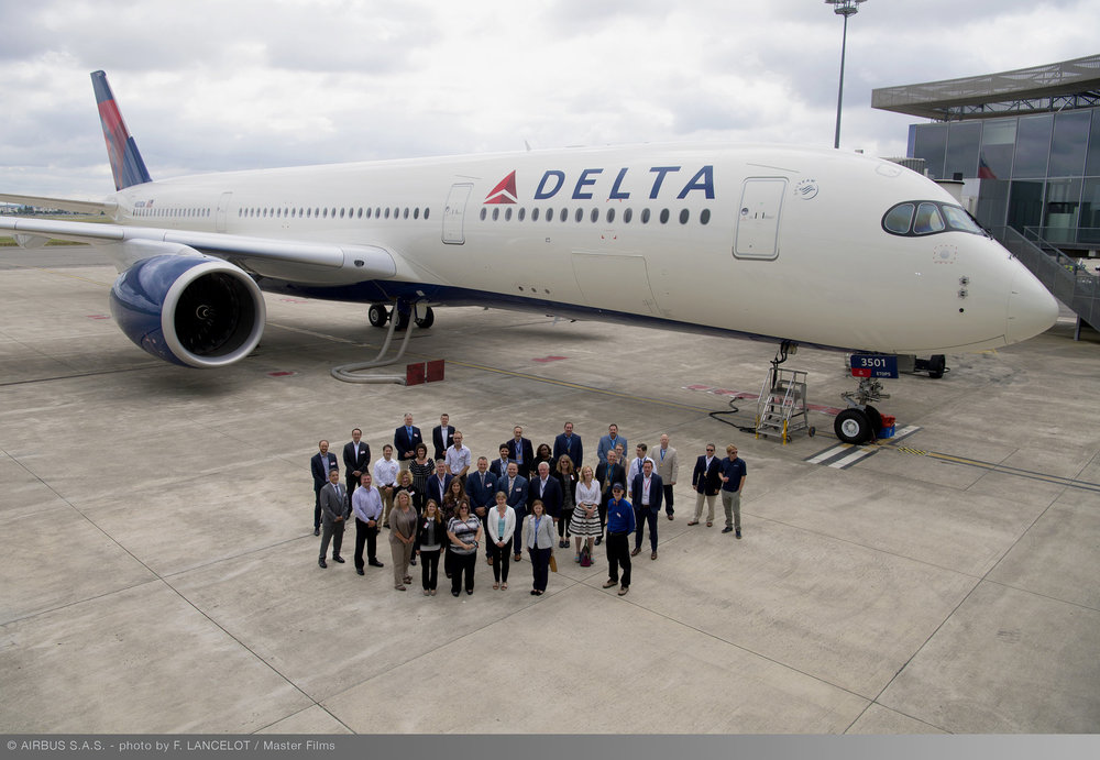Delta Air Lines took delivery this week of its and North America's first Airbus A350  ( Photo: Delta Air Lines )  (click to enlarge)