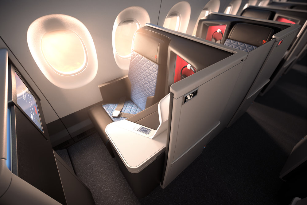The new A350 will be the first aircraft to feature the new Delta One suite   (Photo: Delta Air Lines)  (click to enlarge)