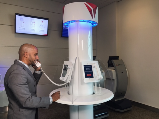 Delta is launching a pilot project at DCA to allow video chats with reservation agents   (Photo: Delta Air Lines)