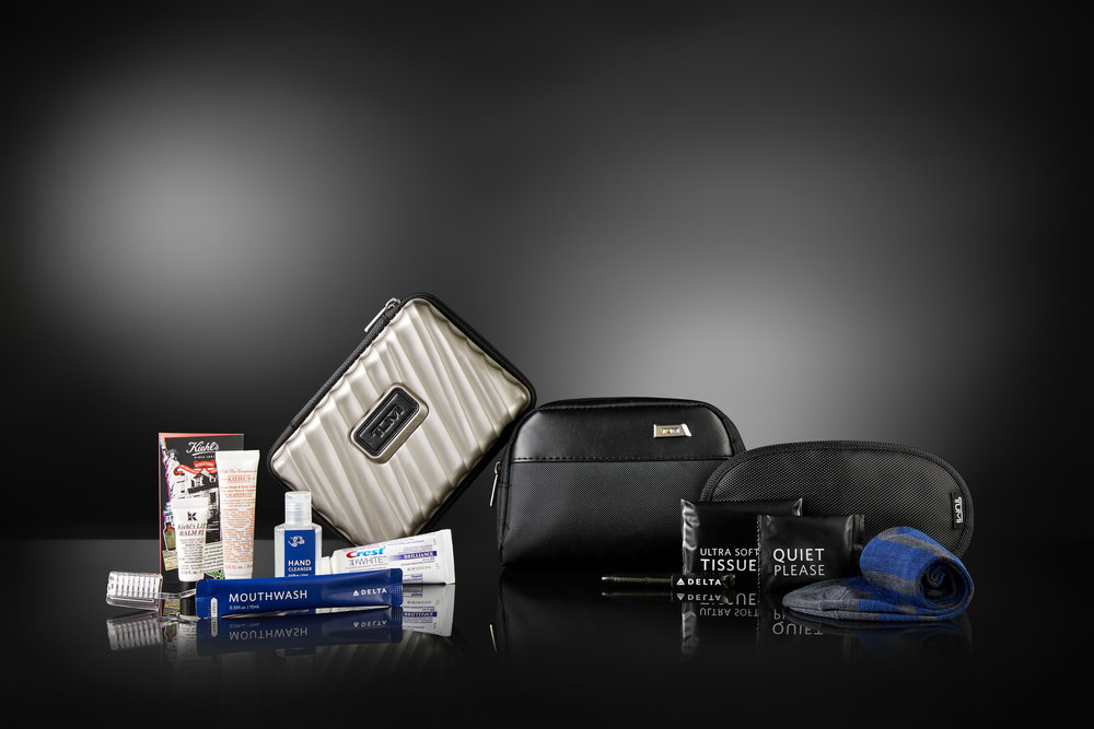 Delta One passengers will receive updated TUMI amenity kits starting September 1  (click to enlarge)  (Photo: Delta Air Lines)
