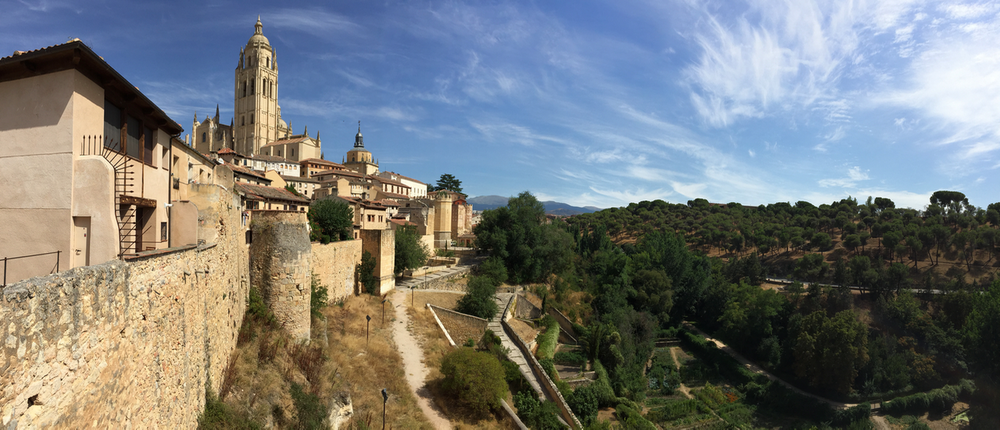 Before going to the Georgia Tech game in Ireland, we visited Segovia, Spain.  (click to enlarge)
