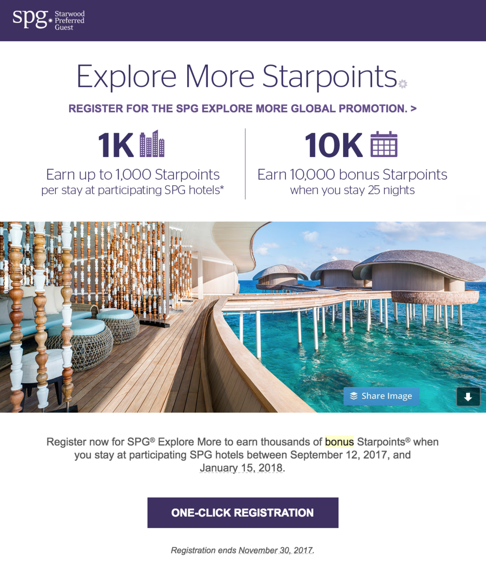 Earn up to 1,000 bonus Starpoints® per stay this fall at Starwood properties  (click to enlarge)