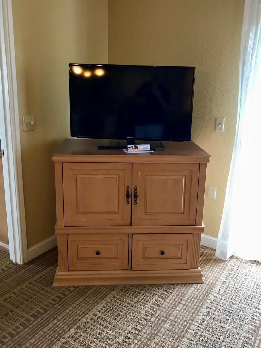 Condo living area television