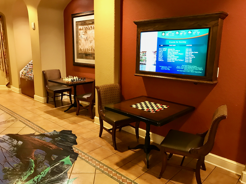 Chess tables in visitors center game room  (click to enlarge)