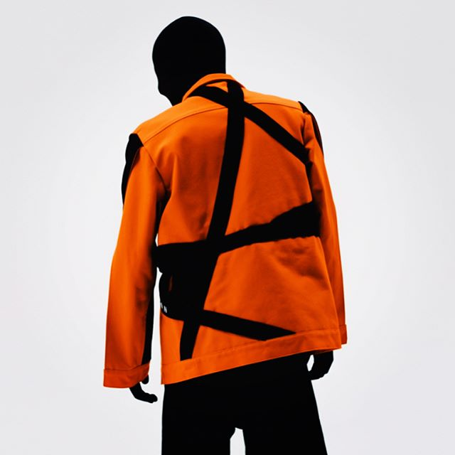 DECONSTRUCTED DENIM JACKET NOW AVAILABLE. http://www.formoverfunctiondesign.com/new-products/deconstructeddenimjacket #FOF #VEHEMENTSS17 #formoverfunction #ONESEX #UNISEX #DESIGN #FASHION @josholsonphoto #ORANGE #JACKET #DENIM #DECONSTRUCTED