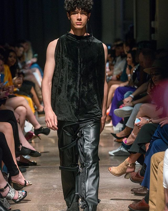 LEATHER CHAPS. VEHEMENT SS17 AT ENVISION SPRING 2017. @jlrsn @ignitemodels #FOF #FORMOVERFUNCTION #UNISEX #ONESEX #TEXTURE #FASHION #DESIGN #RTW #DESIGNER #VEHEMENT #SS17 #mnfashionweek #design