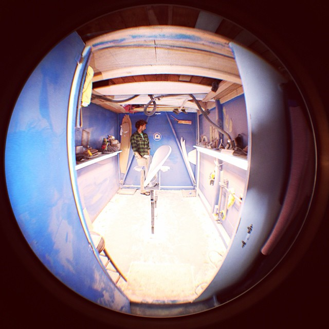 Fisheye Friday.  #rideanything #shapesomething #fisheye #shaping #surfboards #linesandcurves #surfsomething