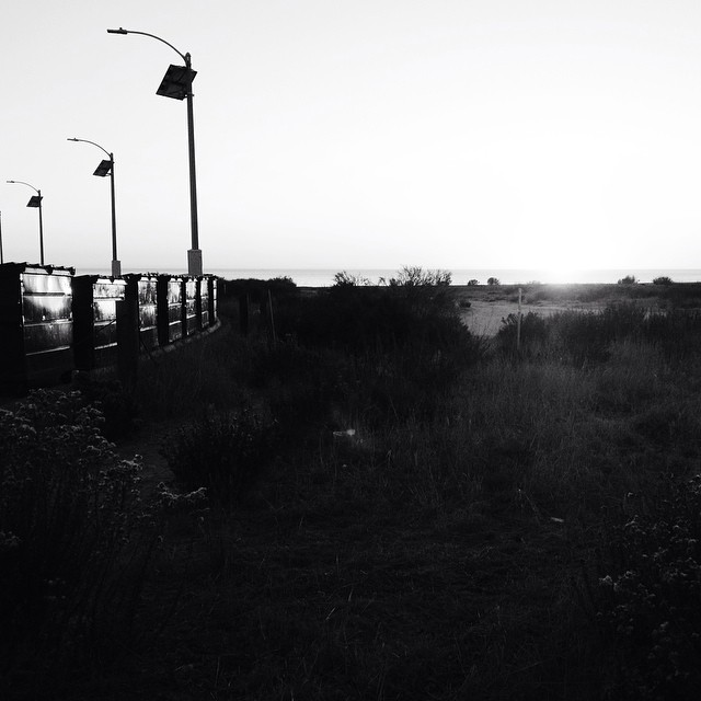 Too soon comes night.  #sunset #sundown #dusk #sAno #sanclemente #blackandwhite #horizon