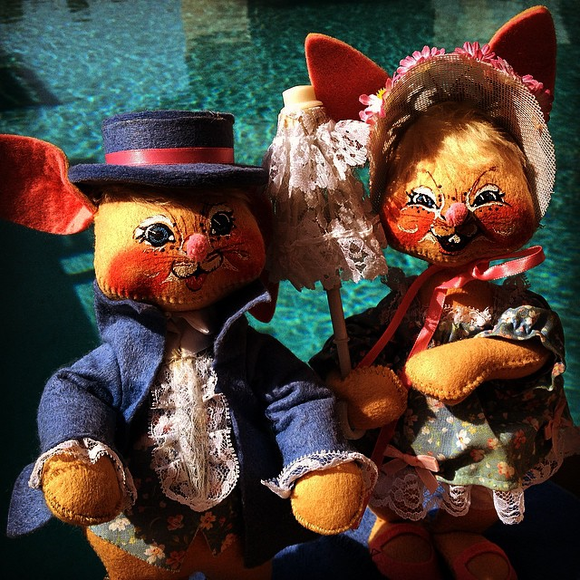 Happy #Halloween from the worlds creepiest Easter bunnies. #terrifyingstuffedanimals