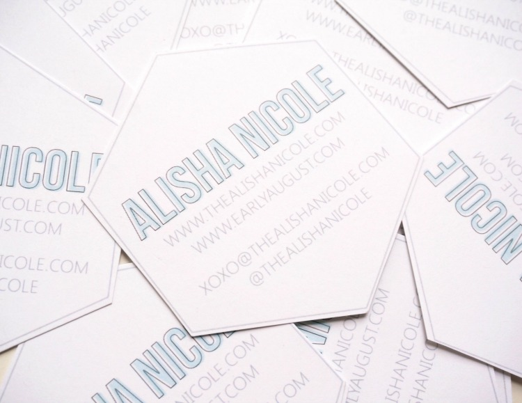 How to create quick easy diy business cards alisha nicole they were super easy to create came out really cute so i wanted to share how i made them happen in under an hour for less than 5 reheart Images