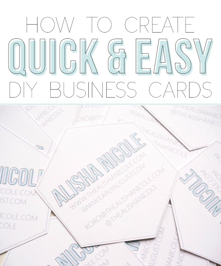 How to create quick easy diy business cards alisha nicole reheart Images