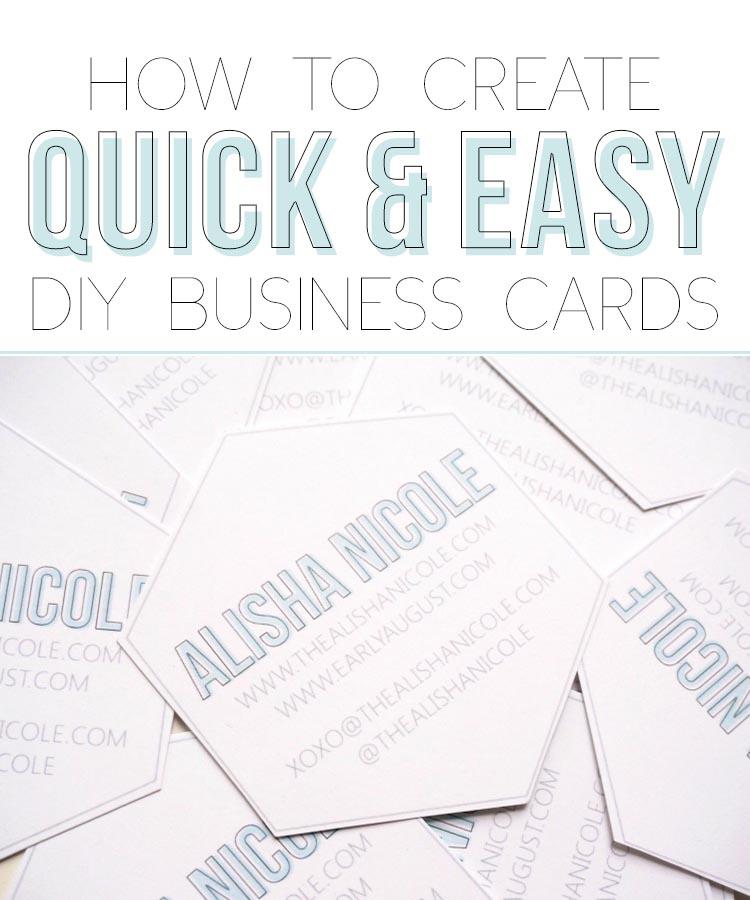 How To Create Quick Easy Diy Business Cards Alisha Nicole