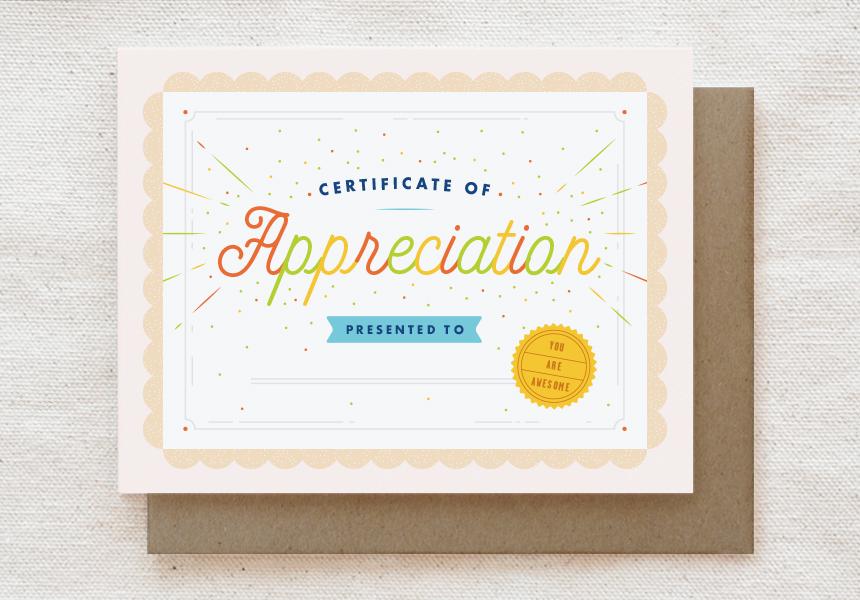 116-C: APPRECIATION