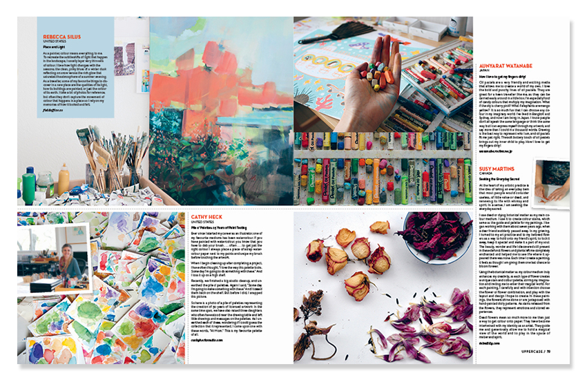 Sneak peak of Uppercase Magazine, Summer edition