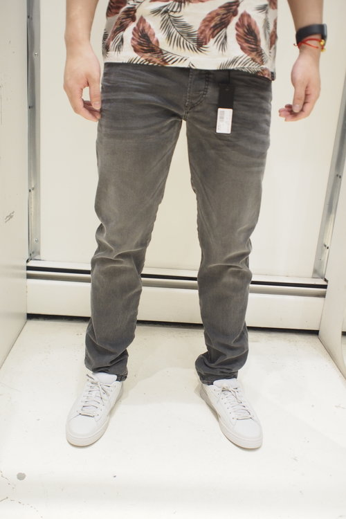 3432c43a Diesel D-Bazer Tapered denim trousers-699P Black grey washed