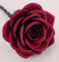 The newest addition to Kaps 4 Kids, the bottle cap roses.