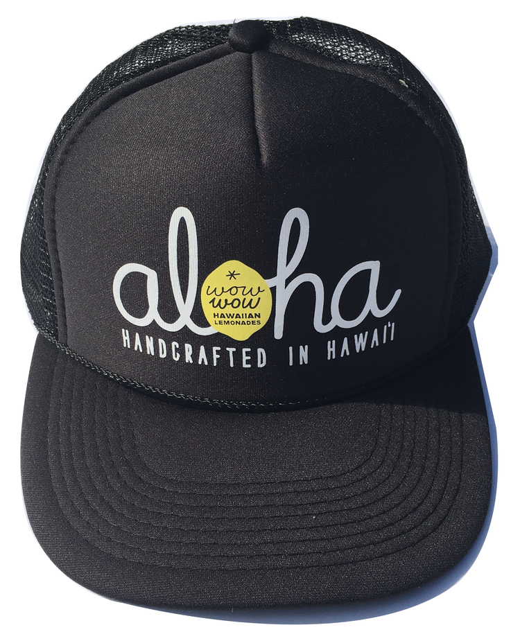 Aloha Trucker Hat — Wow Wow Hawaiian Lemonade 32b592481b3