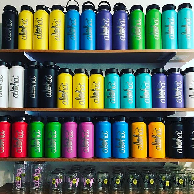 We have a limited restock on our aloha hydroflask at the Maui stand, Kirkland stand, SD stand, and online ....get em while we got em 🌴🍋 Mahalos !
