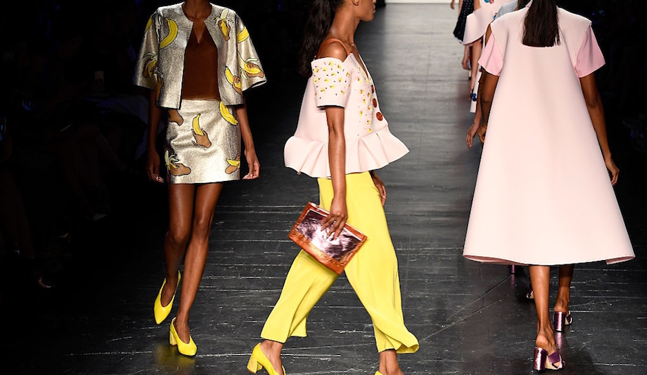 Yellow and pink fashion forward looks by Erin Robertson were a part of the reason that made her the winner of the 'Project Runway' Season 15. [Image by Frazer Harrison/Getty Images]