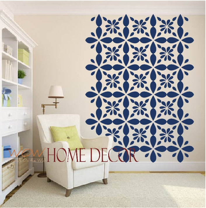 Delicieux Vinyl Wall Decal Sticker Art   Moroccan Geometric Wall Pattern Shapes Large  Size