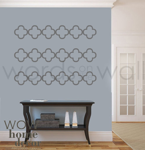 Vinyl wall decal sticker art moroccan geometric wall pattern quatrefoil pattern wall sticker moroccan bubbles