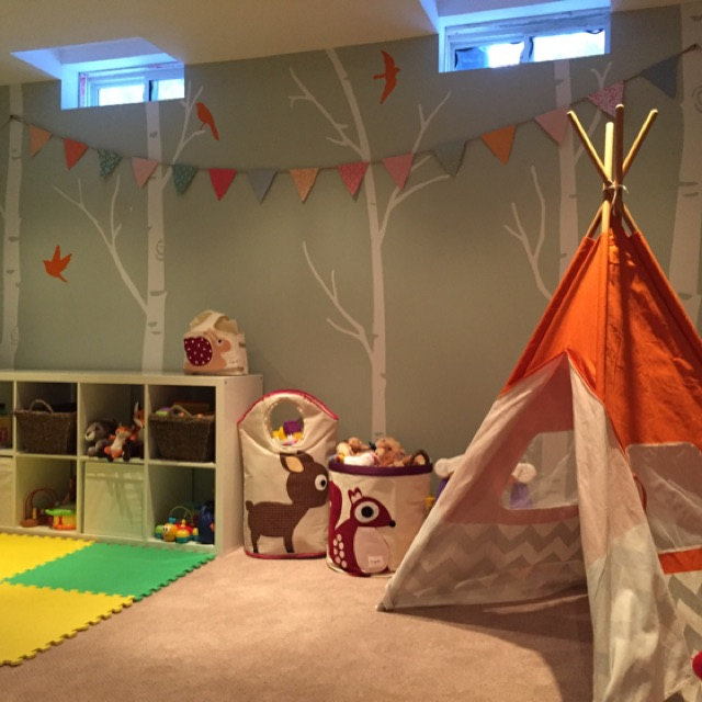 The Skinny Birch Trees are a perfect backdrop for our woodland playroom - Lianne M.