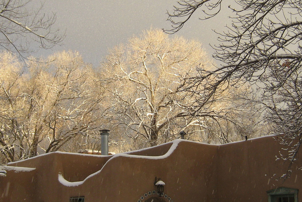 Santa Fe winter at Dunshee's Bed and Breakfast