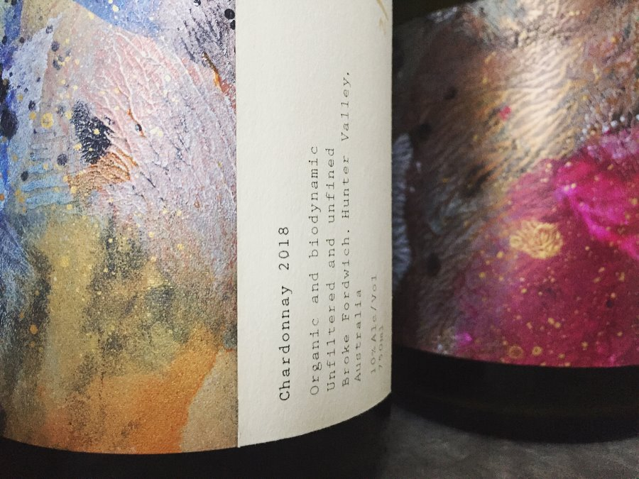(Detail) Limited Edition Artworks hand applied to small batch wines
